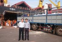 Tổng giám đốc Apromaco thị sát thị trường khu vực Quy Nhơn và kiểm tra việc làm hàng Tàu ADFINES WEST chở 10.500 tấn Kali cập cảng Quy Nhơn.
