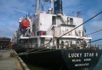 Tàu Lucky Star và  Four Otello với hàng nghìn tấn phân bón do Apromaco nhập khẩu cập cảng Quy Nhơn