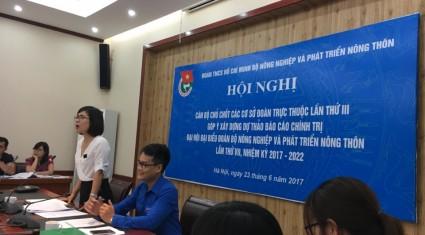 Hội nghị cán bộ chủ chốt các cơ sở đoàn trực thuộc  Đoàn Bộ Nông nghiệp và PTNT