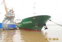 Tàu Gou Hong chở 3.100 tấn Amoni Sulphat Nhật Bản cập cảng HP chào xuân Mậu Tuất 2018