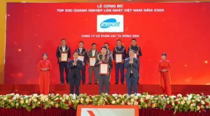CÔNG TY CỔ PHẦN VẬT TƯ NÔNG SẢN TIẾP TỤC ĐỨNG TRONG  TOP 500 DOANH NGHIỆP LỚN NHẤT VIỆT NAM NĂM 2020